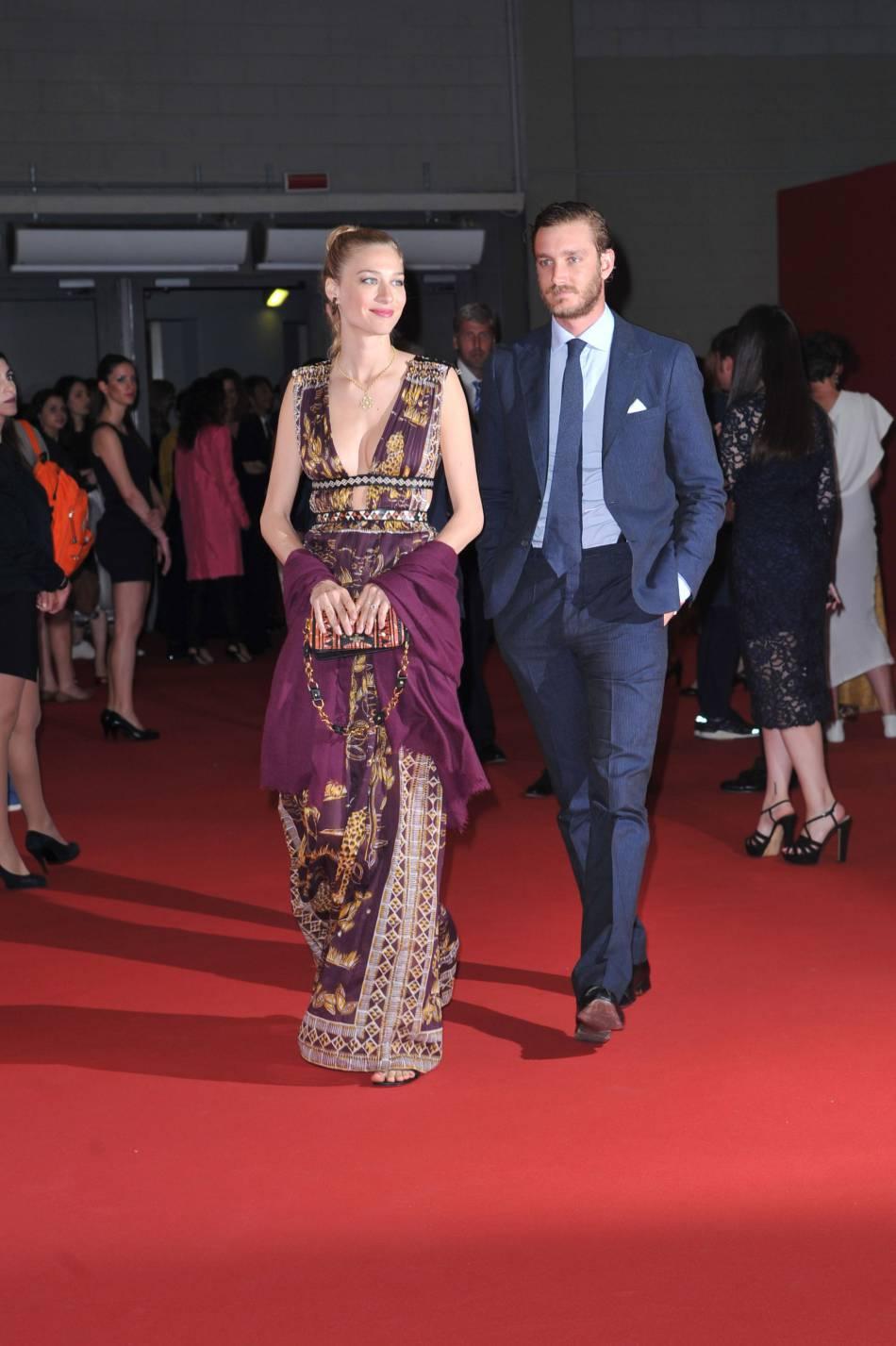 Pierre Casiraghi et Beatrice Borromeo, tous les deux sur leur trente-et-un pour la soirée de lancement de l'event mode milanais Convivio.