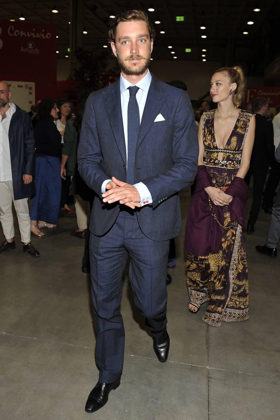Pierre Casiraghi et sa femme Beatrice Borromeo à la soirée Convivio à Milan.