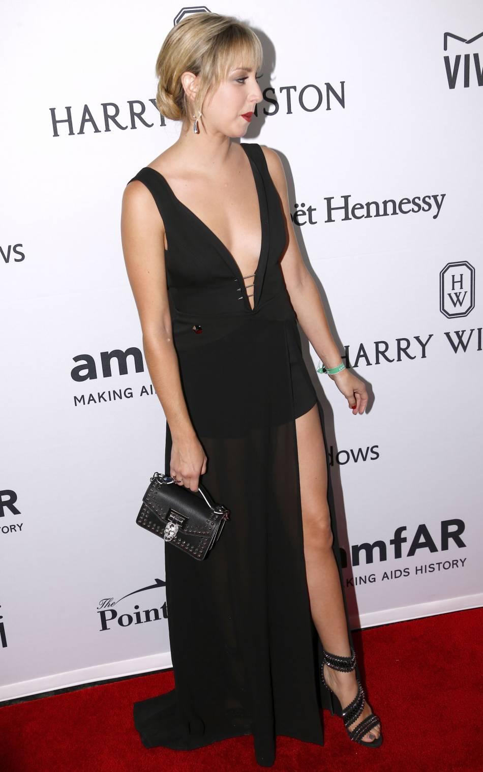 La fille illégitime d'Albert de Monaco a fait sensation dans une robe très osée.