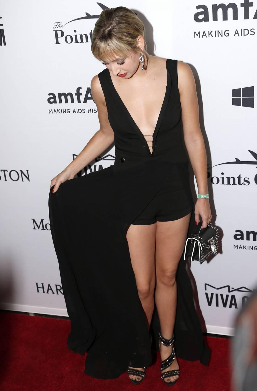 Jazmin Grace Grimaldi au 7e gala annuel Amfar à New York. La jeune femme de 24 ans a ses entrées dans les événements huppés.
