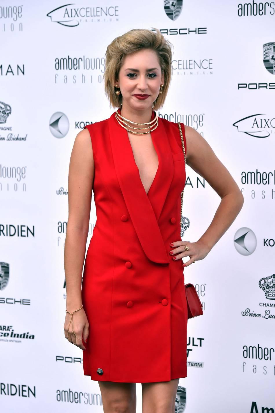 Jazmin Grace Grimaldi (la fille du Prince Albert II de Monaco) à la soirée Amber Lounge au Meridien Beach Plaza, dans le cadre du 74ème Grand Prix de Monaco, le 27 mai 2016.