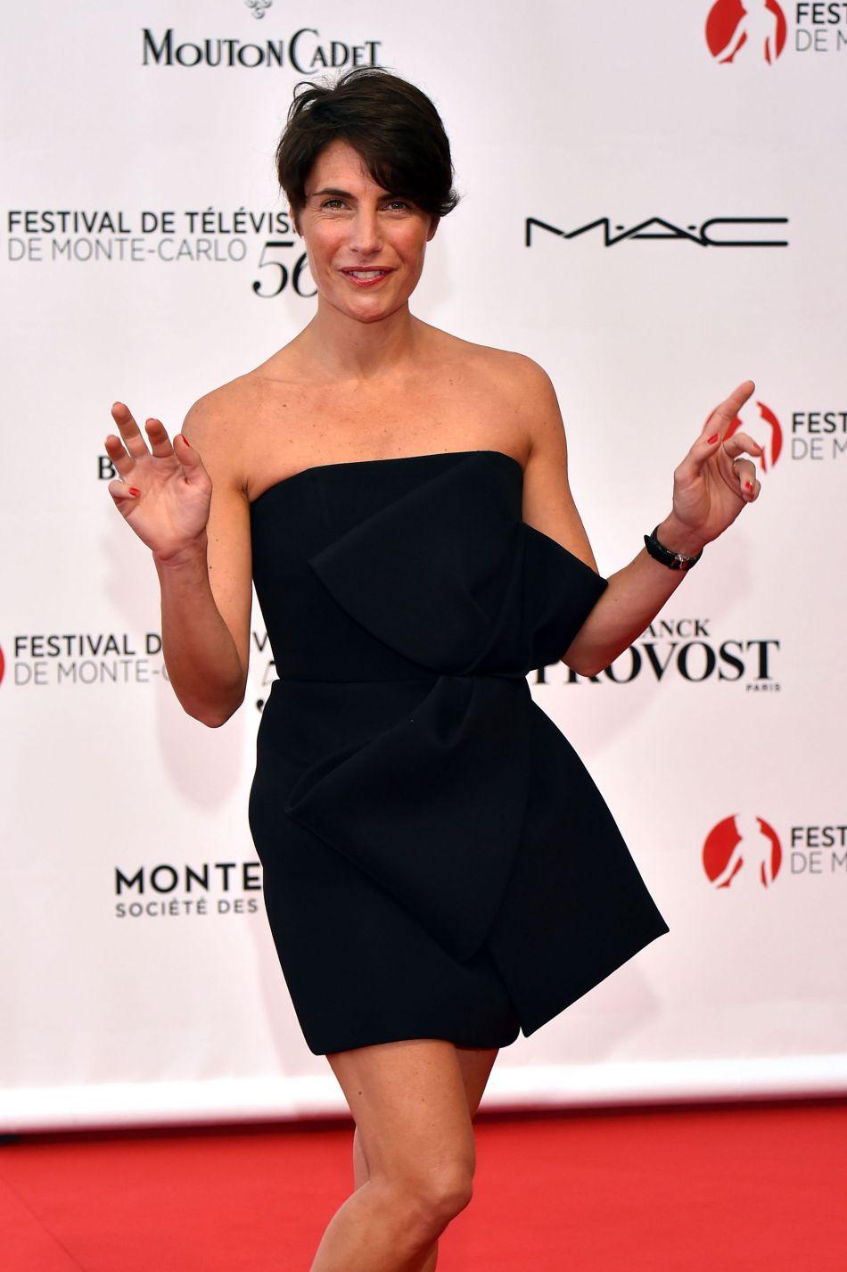 Alessandra Sublet lors de la cérémonie d'ouverture du 56e Festival de télévision de Monte-Carlo, le 12 juin 2016.