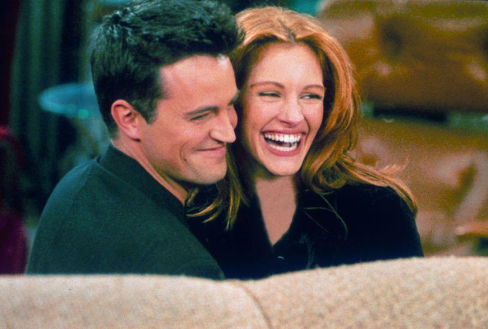 """Julia Roberts et Matthew Perry : ils ont tourné ensemble un épisode de """"Friends"""" dans lequel Julia apparaissant en gust."""