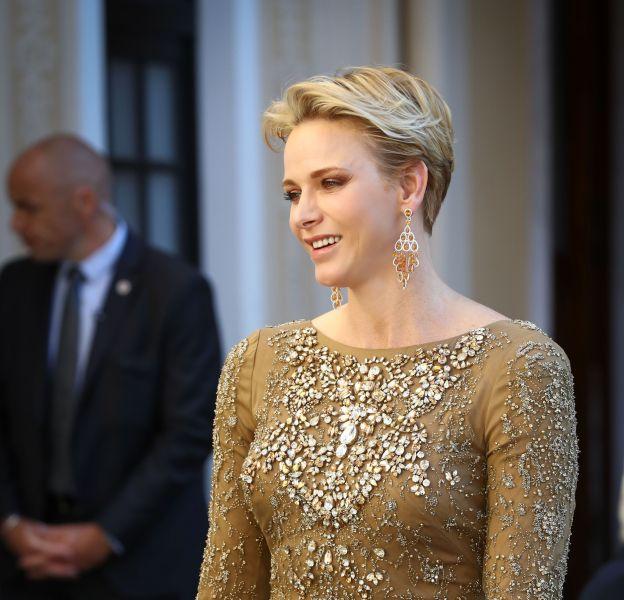 Charlène de Monaco au cocktail qu'elle a organisé lors du 56e festival de la télévision de Monte-Carlo.