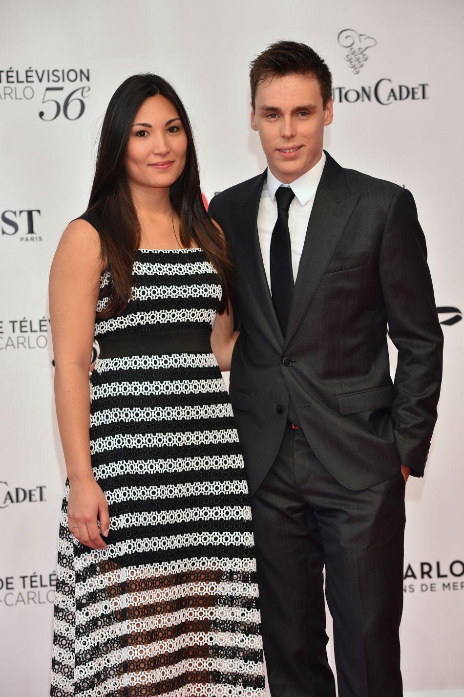 Louis Ducruet et sa compagne Marie lors de la crémonie d'ouverture du 56e festival de télévision de Monte-Carlo, le 12 juin 2016.