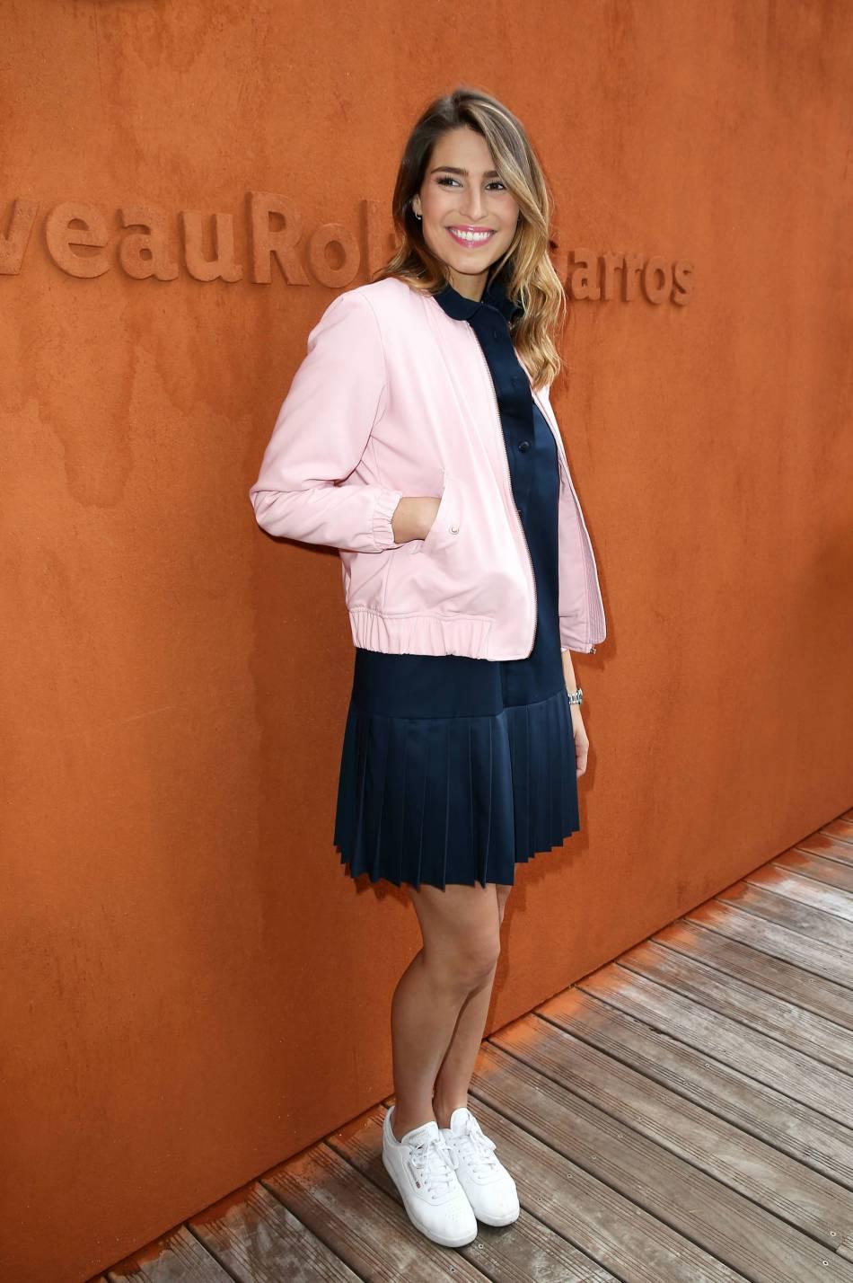 Laury Thilleman était la reine du style à Roland-Garros 2016.