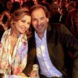 Ingrid Chauvin et son mari Thierry Peythieu à l'élection Top Model Belgium 2016 au Lido à Paris le 24 janvier 2016.