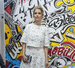 Alice Taglioni était au comble de l'élégance pour la présentation de la nouvelle collection maroquinerie Montblanc Urban Spirit, à Paris, ce 21 juin 2016.