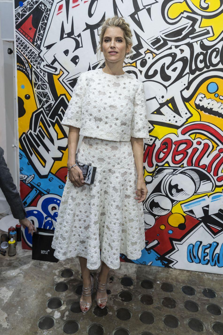Alice Taglioni était au comble de l'élégance pour la p résentation de la nouvelle collection maroquinerie Montblanc Urban Spirit, à Paris, ce 21 juin 2016.