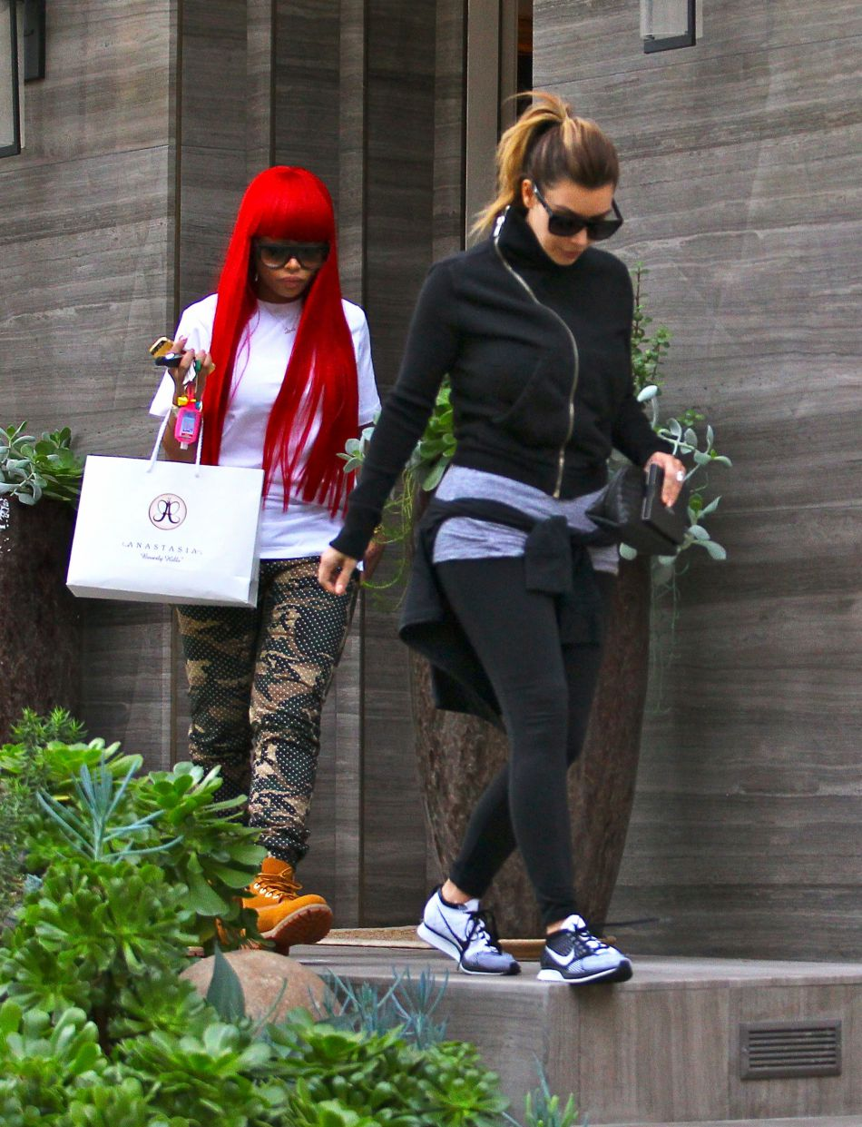 Kim Kardashian et Blac Chyna ont célébré ensemble l'anniversaire de Khloe Kardashian.