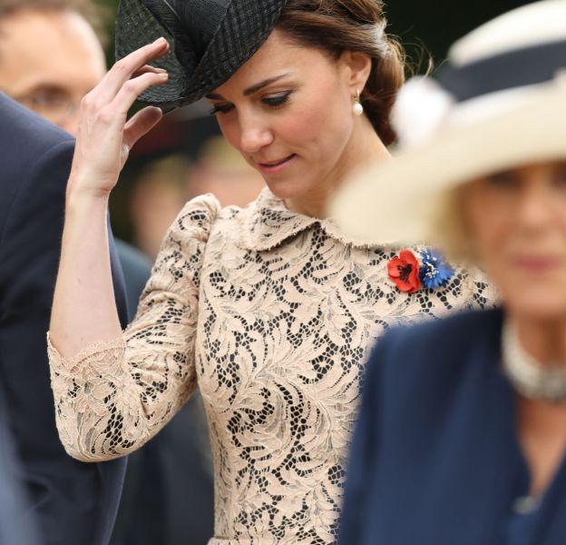 Kate Middleton, le rayon de soleil de cette matinée solennelle.