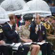 Si la pluie était au rendez-vous ce matin, Kate a néanmoins illuminé la cérémonie de sa présence.