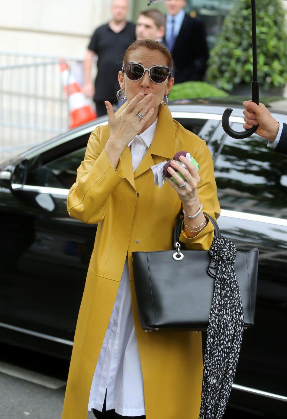 Depuis son arrivée à Paris, Céline Dion exhibe le travail de son nouveau styliste.