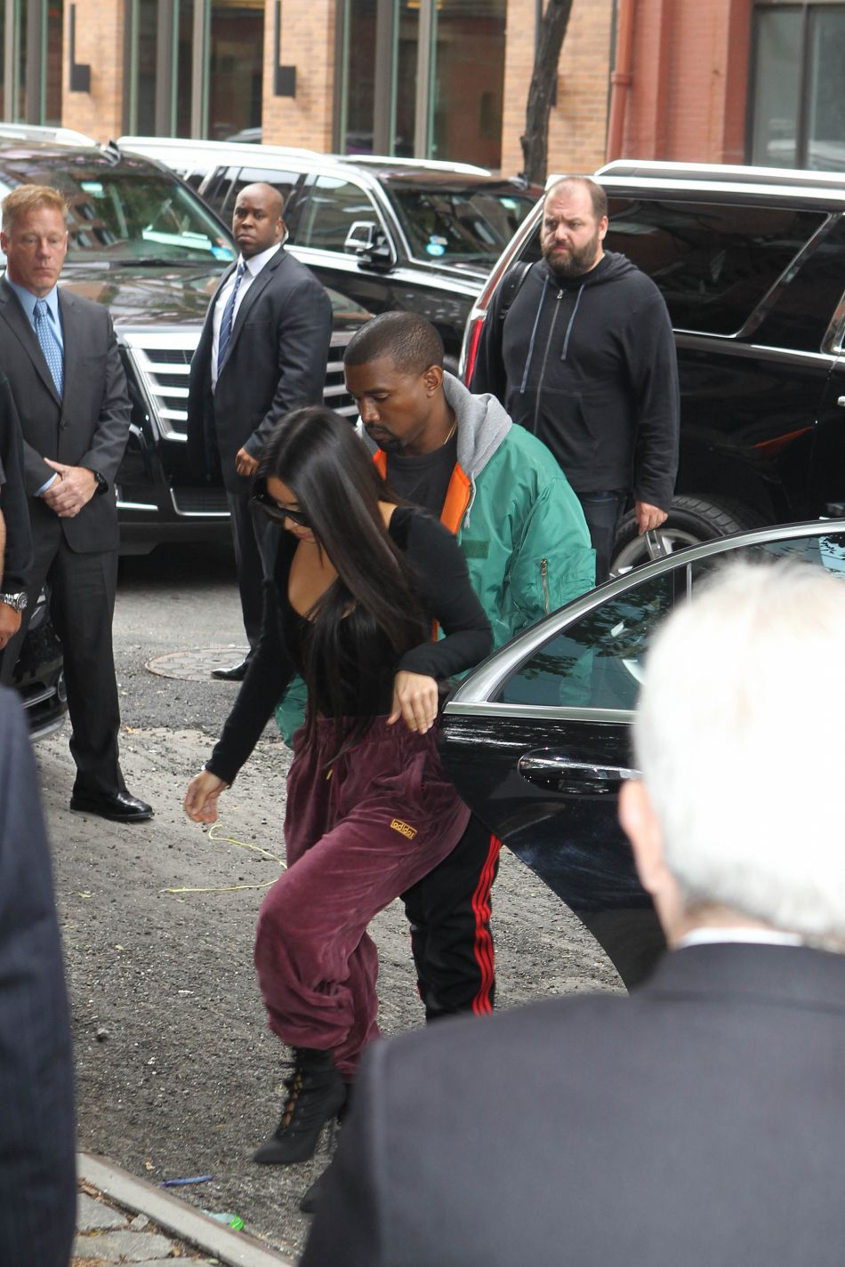 Kim Kardashian a rejoint New York avec son mari, Kanye West.