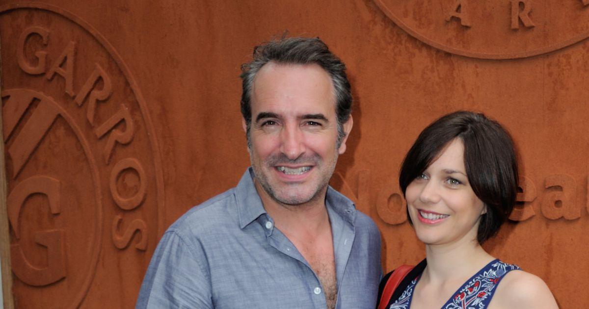 Nathalie p chalat et son compagnon jean dujardin heureux for Dujardin petit