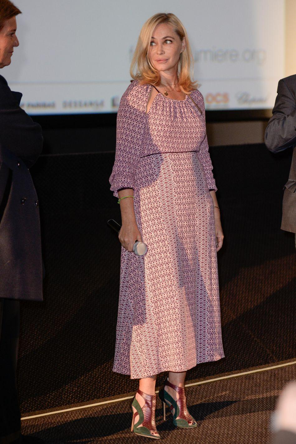 Emmanuelle Béart au 8ème Festival Lumière de Lyon ce lundi 10 octobre 2016.