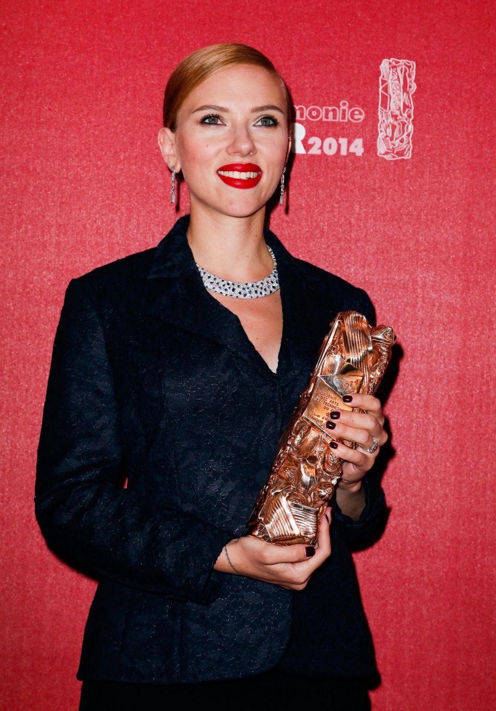 En 2014, Scarlett Johansson a reçu un César d'honneur pour l'ensemble de sa carrière.