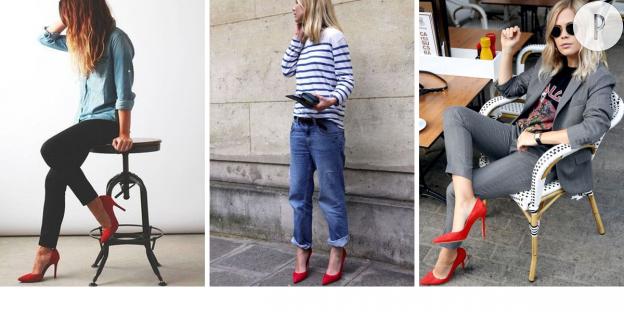 Escarpins rouges 5 paires qui en jettent et comment les porter puretrend - Comment porter des bottines avec un slim ...