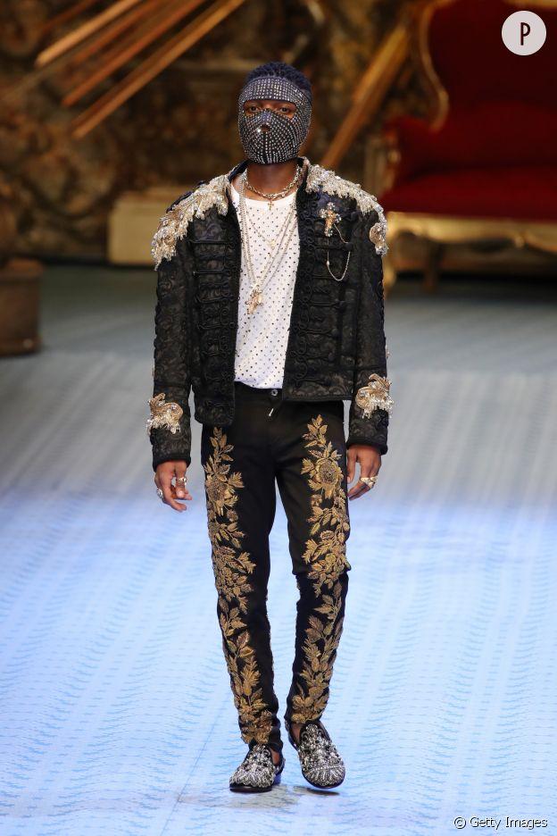 Wizkid défile pour Dolce & Gabbana..