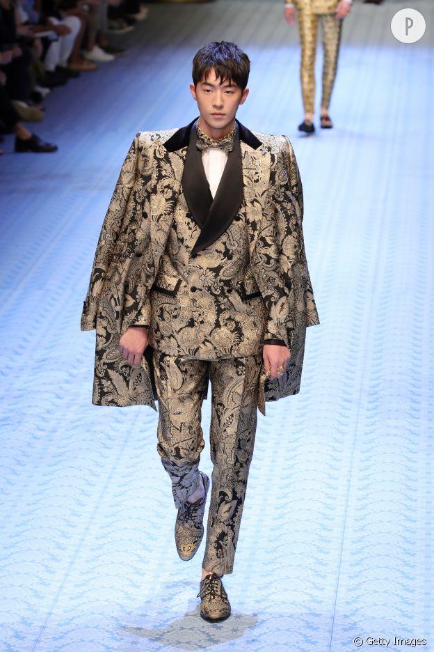 Nam Joo-hyuk défile pour Dolce & Gabbana.