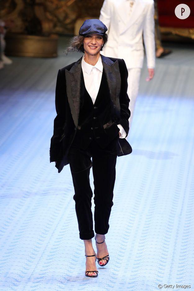 Marpessa Hennink défile pour Dolce & Gabbana.
