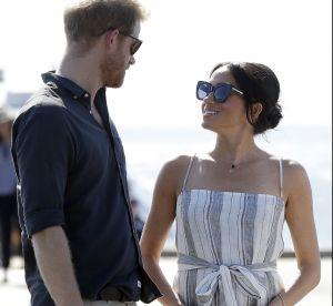 Meghan Markle : sa robe rayée fendue en Australie met les fashionistas en PLS