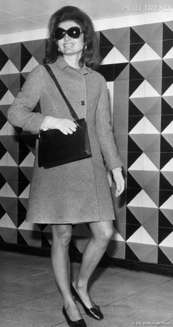 Jackie Kennedy Onassis à Londres en 1968
