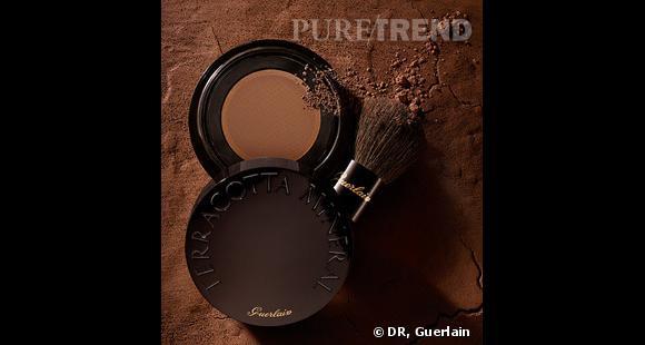 Poudre libre Terracotta Minerale de Guerlain49,50 euros, en vente dans les parfumeries, les boutiques Guerlain et sur sephora.fr