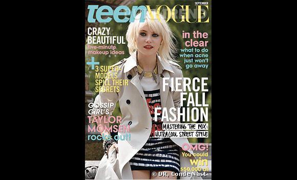 Couverture du Teen Vogue avec [people=2364]Taylor Momsen[/people]