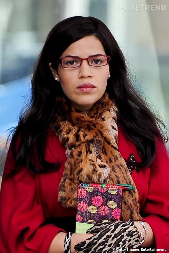 America Ferrera sur le tournage de la série Ugly Betty