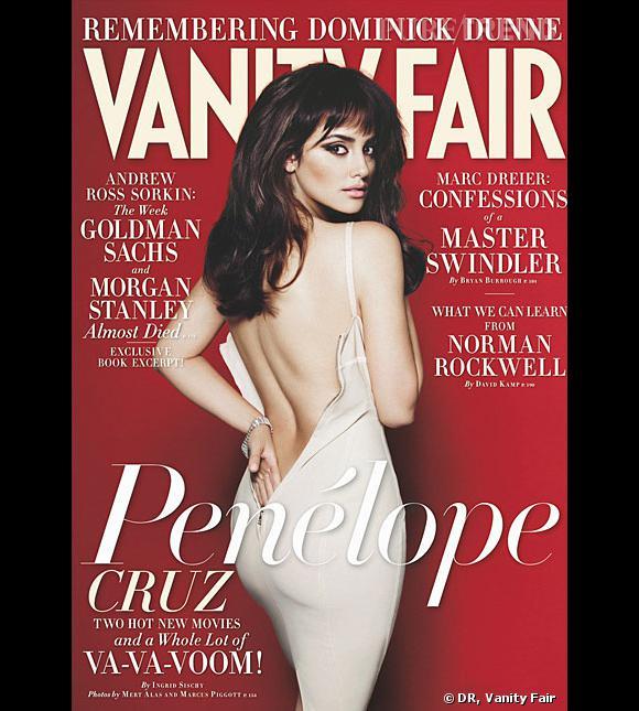 Penelope Cruz en couverture du Vanity Fair du mois de novembre