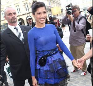 Freida Pinto, star du défilé Louis Vuitton