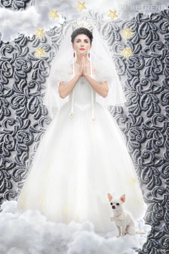 Robe de mariée vintage customisée et mise en vente par Manoush