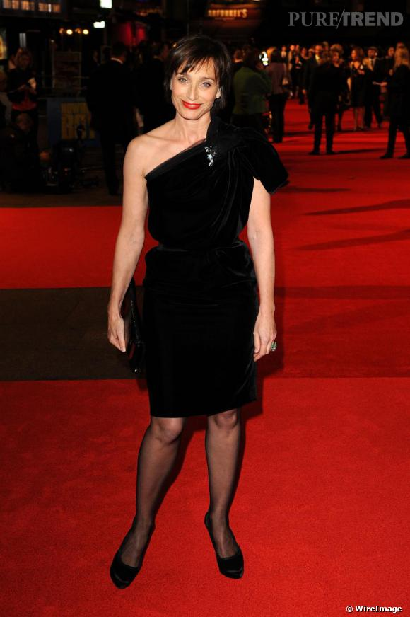 Kristin Scott Thomas lors de la premiere de Nowhere Boy, au festival du film de Londres