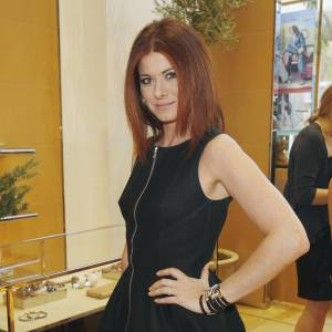 Debra Messing à la Tea Party organisée par Vogue et Tod's