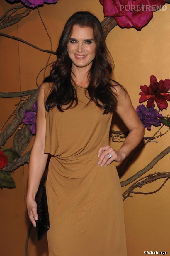 Brooke Shields au vernissage de l'exposition du Musée d'Art Moderne de New-York en hommage à Tim Burton
