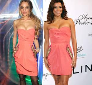 Eva Longoria Vs Lindsay Lohan : qui porte le mieux la robe bustier ?
