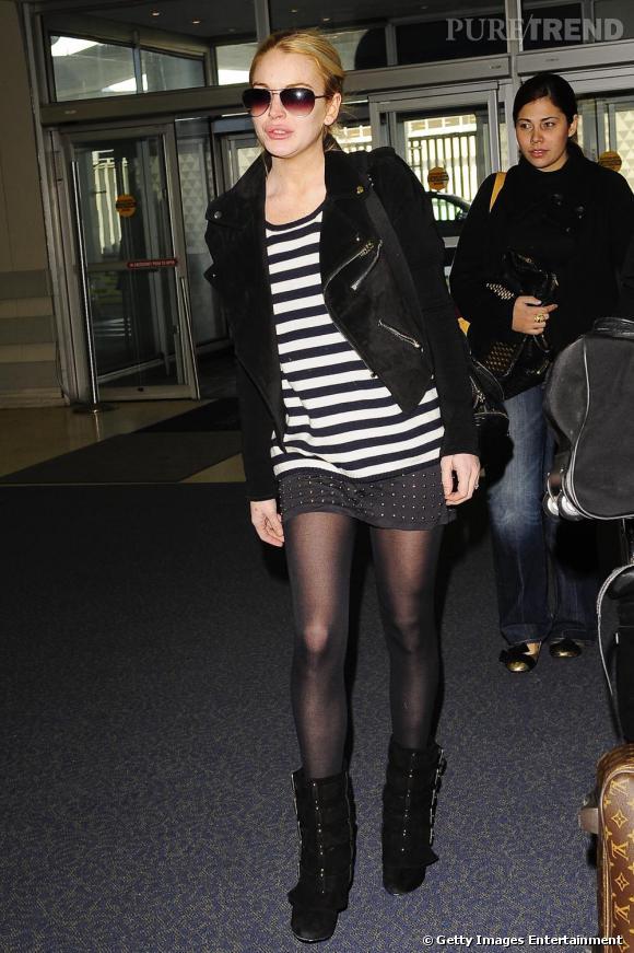 Lindsay Lohan à l'aéroport JFK de New-York