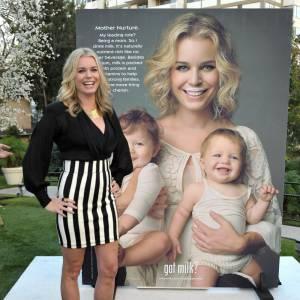 Rebecca Romijn assiste à la présentation de la nouvelle campagne américaine pour le lait à Los Angeles
