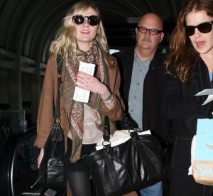 Kirsten Dunst, trendy en camel... A shopper !