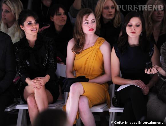 Shiri Appleby, Melissa George et Sophia Bush au défilé Monique Lhuillier