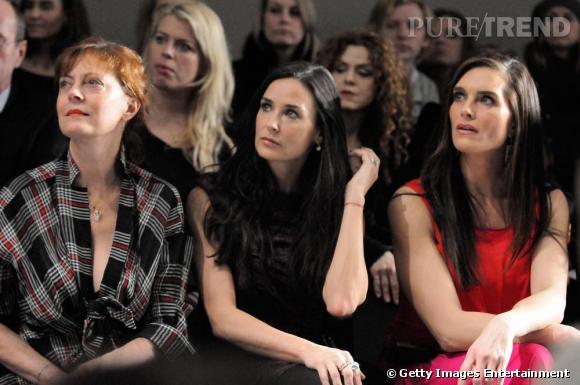 Susan Sarandon, Demi Moore et Brooke Shields au défilé Donna Karan