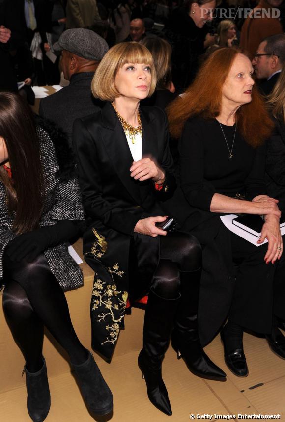 Anna Wintour et Grace Coddington au défilé Marc Jacobs