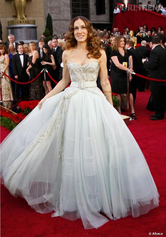 Robe de princesse signée Dior pour Sarah Jessica Parker.