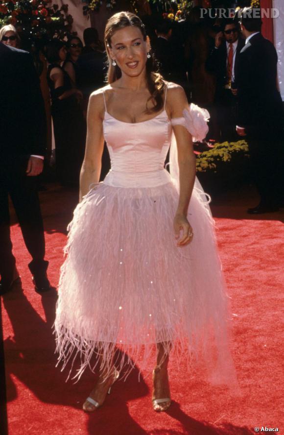 Débuts difficiles pour Sarah Jessica Parker qui cherche encore son style.