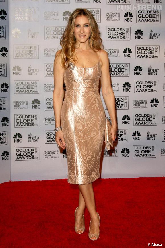 Sarah Jessica aime le style nude qui le lui rend bien comme le montre cette robe moulante.