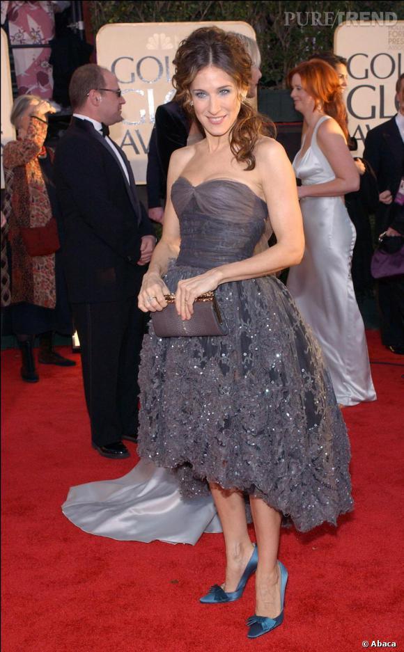 Très élégante, Sarah Jessica Parker aux Golden Globes en Chanel.
