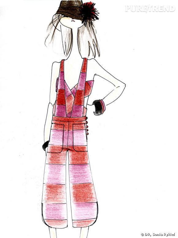 Croquis d'un modèle de la prochaine collection Sonia Rykiel pour H&M