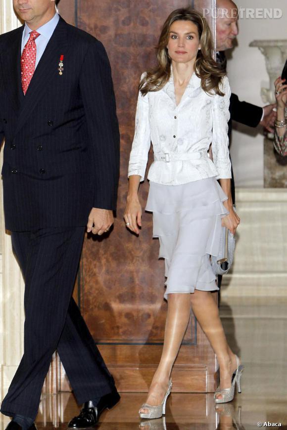Letizia Ortiz au palais Zarzuela à l'occasion de l'évènement Toisones de Oro à Madrid