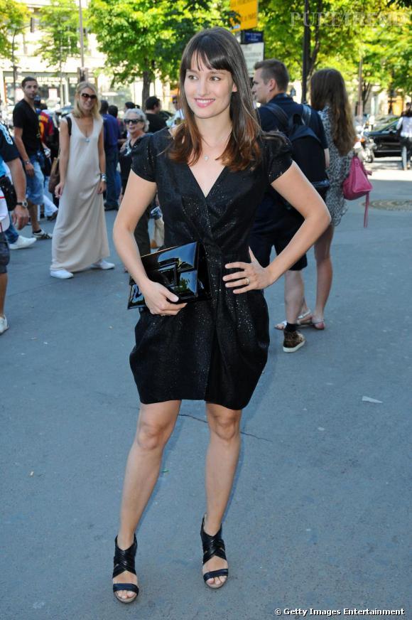 Marie Gillain au défilé Haute Couture Automne Hiver 2010/2011 Elie Saab.